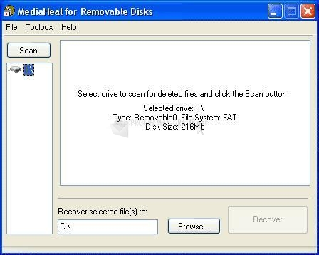 Pantallazo MediaHeal for Removable Disks