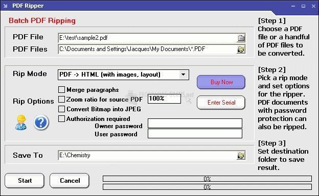 Pantallazo PDF Ripper