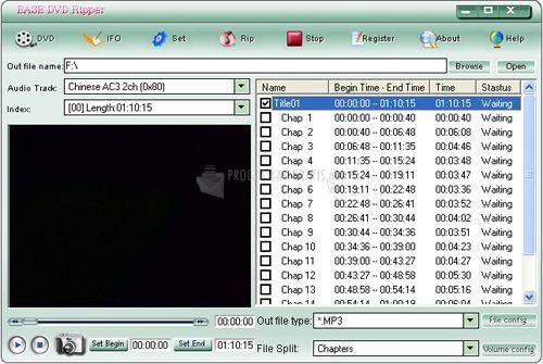 Pantallazo Ease DVD Ripper