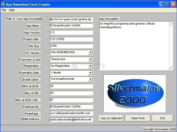 Pantallazo VB App Form Creator