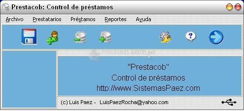 Pantallazo Prestacob Control de préstamos