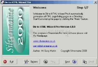 Pantallazo VB Dir to HTML Wizard