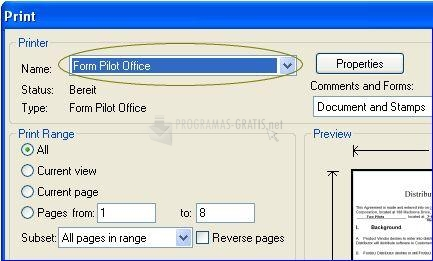 Pantallazo Form Pilot Office