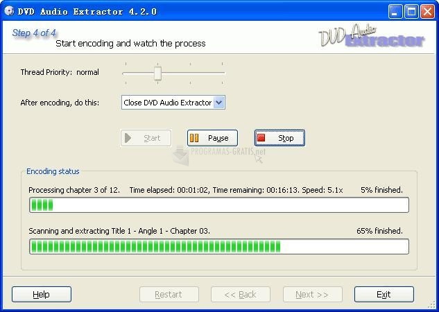 Screenshot DVD Audio Extractor