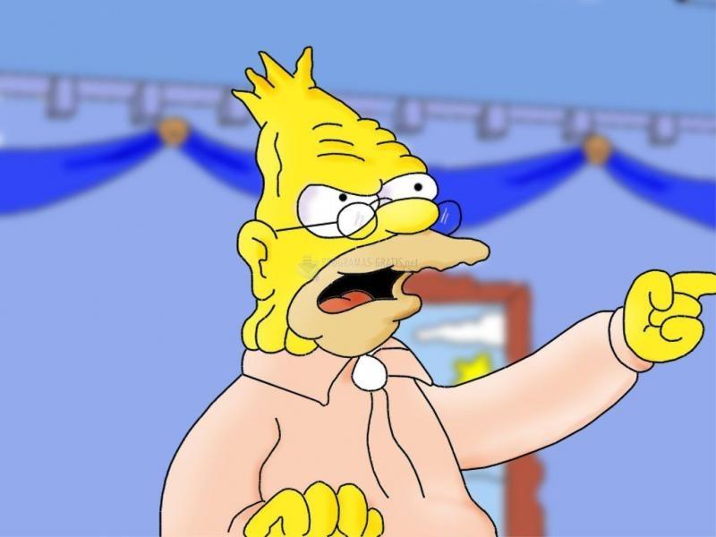 Pantallazo Abuelo Simpson