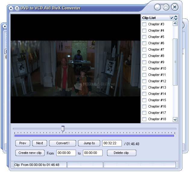 Pantallazo DVD to VCD AVI DivX Converter