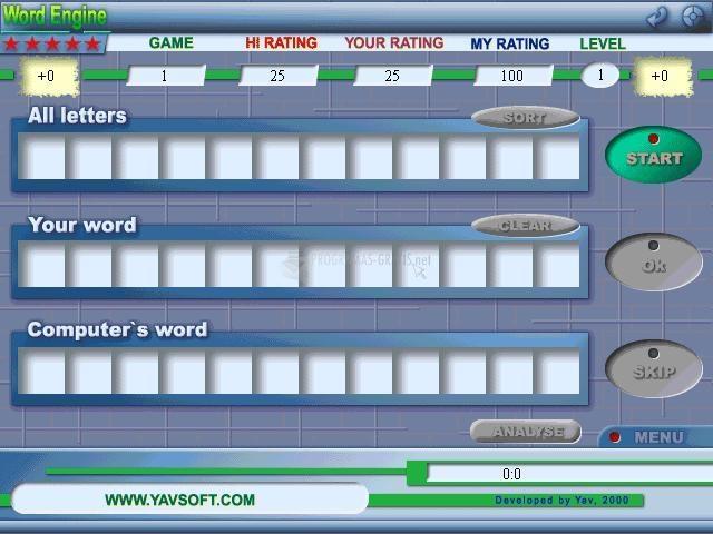Pantallazo 5 Star Word Engine