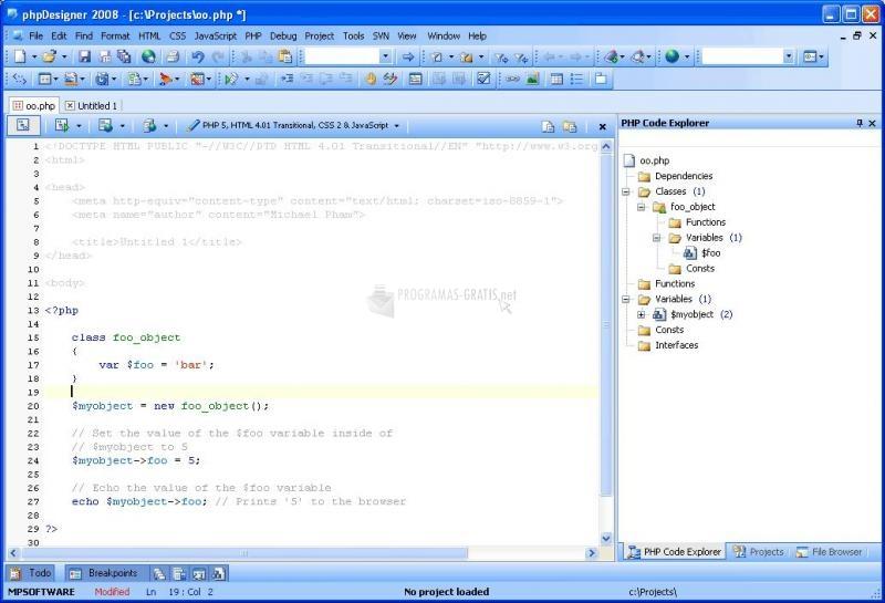 Captura PHP Designer