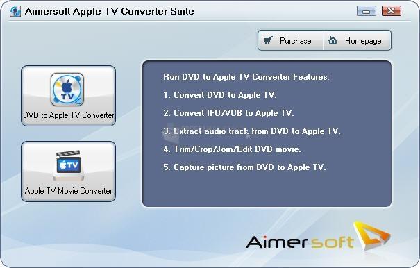 Pantallazo Aimersoft Apple TV Converter Suite