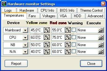 Captura Hardware Sensors Monitor