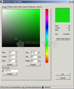 Pantallazo JS Color Picker