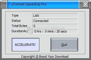 Pantallazo uTorrent SpeedUp Pro