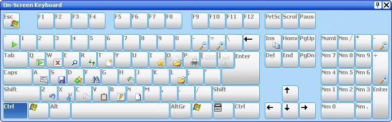 Pantallazo Comfort On-Screen Keyboard Lite