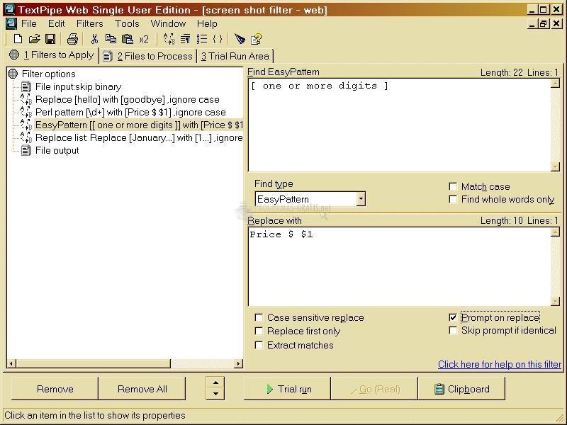 Pantallazo TextPipe Lite
