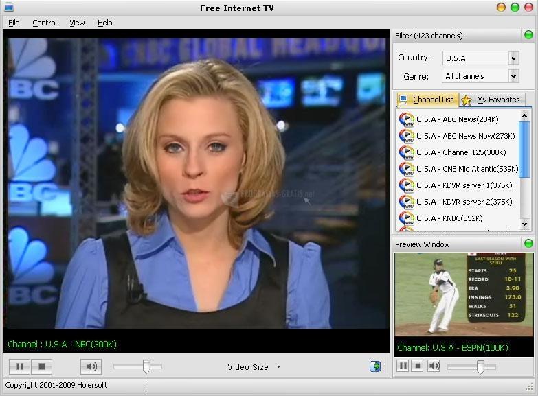 Pantallazo Free Internet TV