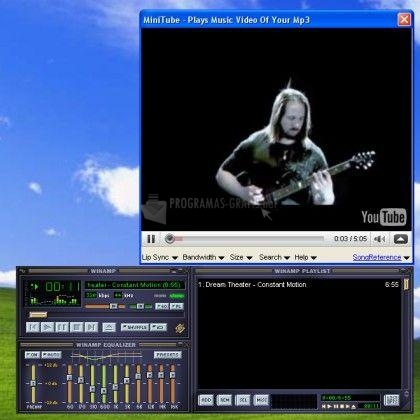 Pantallazo MiniTube para Winamp