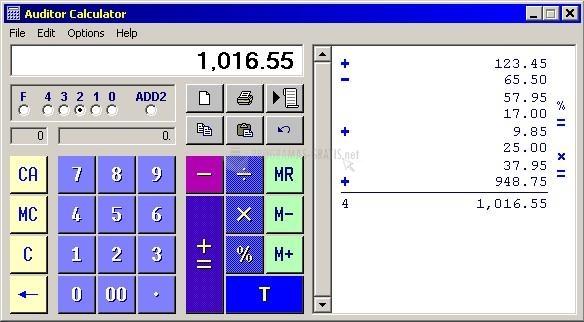 Pantallazo Auditor Calculator
