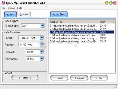Pantallazo Quick MP3 WAV Converter