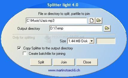 Pantallazo Splitter Light (Español)
