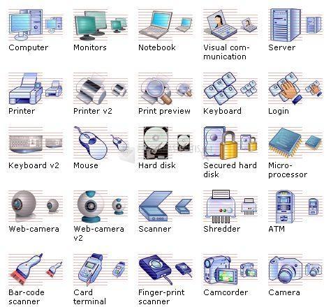 Pantallazo Hardware Icon Library