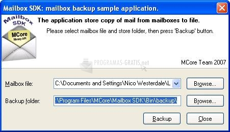 Pantallazo Mailbox SDK