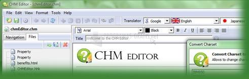 Pantallazo CHM Editor
