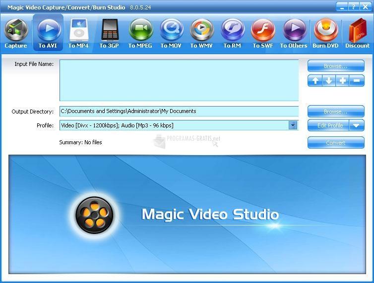 Pantallazo Magic Video Capture/Convert/Burn Studio