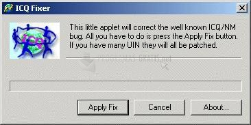 Pantallazo ICQ Fixer