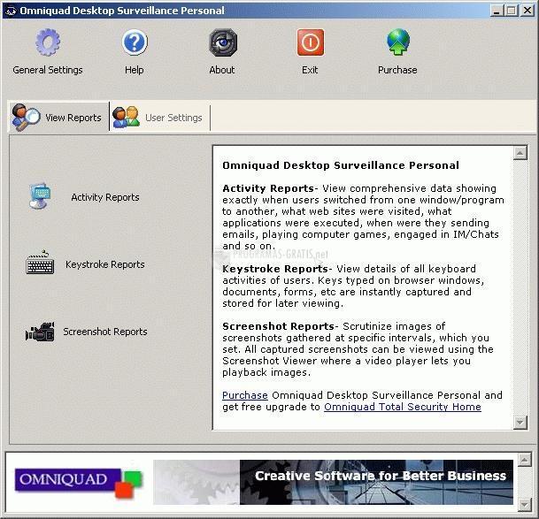 Pantallazo Desktop Surveillance Personal