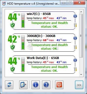 Pantallazo HDD Temperature Free