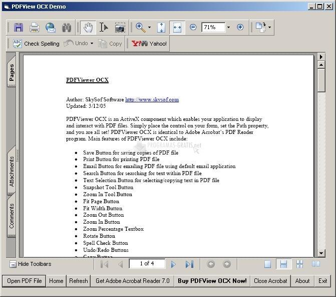 Pantallazo PDFViewer OCX