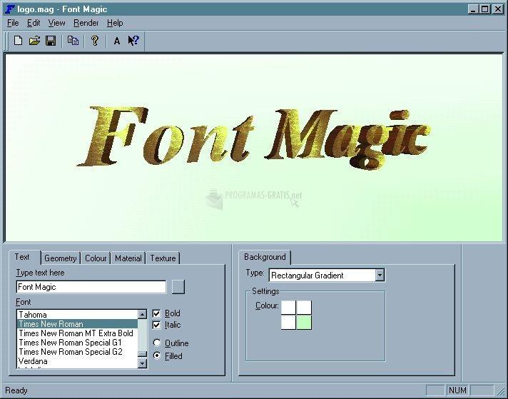 Captura Font Magic