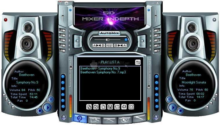 Pantallazo Audio Mixer InDepth