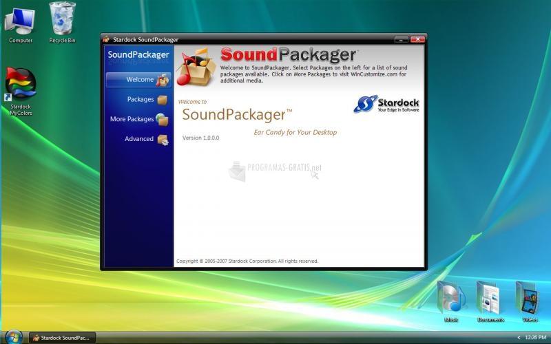 Pantallazo SoundPackager