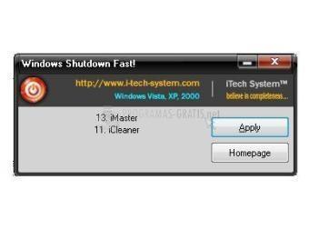 Pantallazo itech Windows Shutdown Fast!