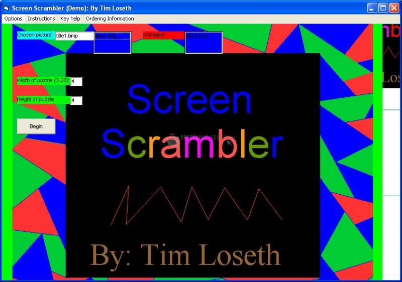 Pantallazo Screen Scrambler