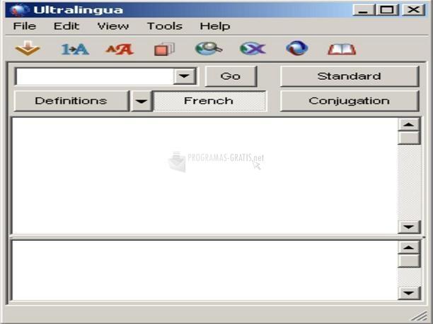 Pantallazo French dictionary