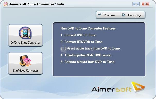 Pantallazo Aimersoft Zune Converter Suite