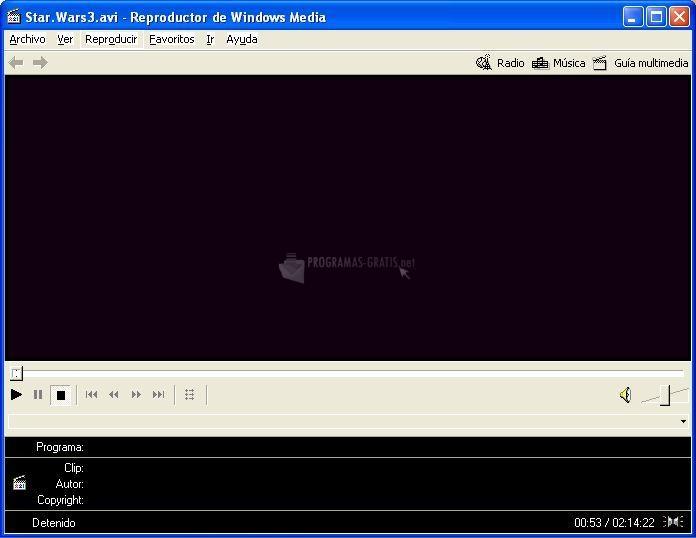 Pantallazo Windows Media Player Launcher