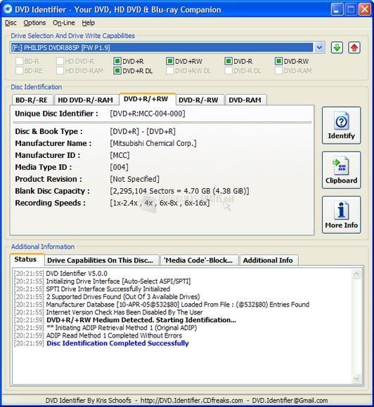 Pantallazo DVD Identifier
