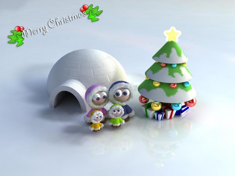 Pantallazo Navidad Eskimo family