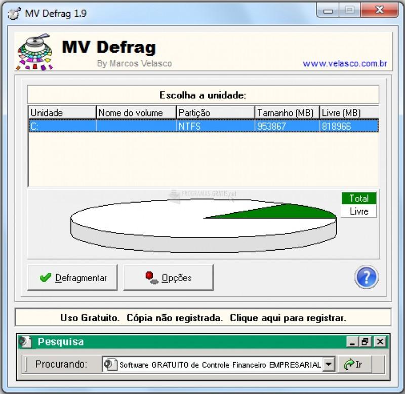 Pantallazo MV Defrag