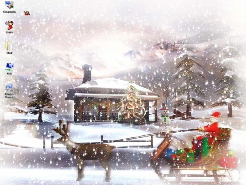 Pantallazo Microsoft Christmas Theme 2004