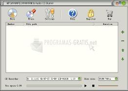 Pantallazo MP3/AVI/MPEG to Audio CD Burner
