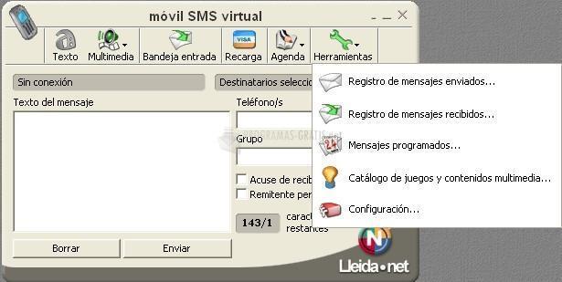 Pantallazo Móvil SMS Virtual