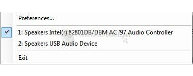 Pantallazo Vista Audio Changer
