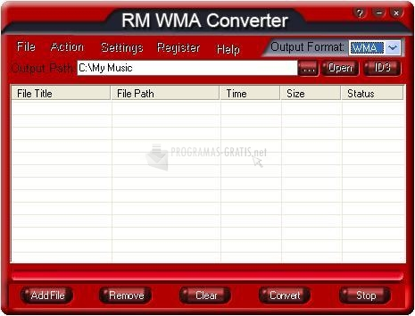 Pantallazo RM WMA Converter