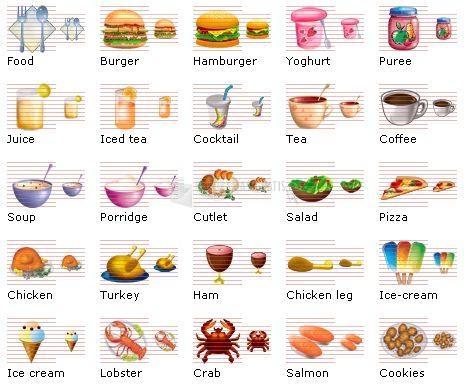 Pantallazo Food Icon Library