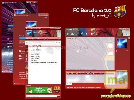 Pantallazo Skin FC Barcelona