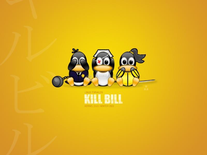 Pantallazo Kill Bill Tux Wallpaper